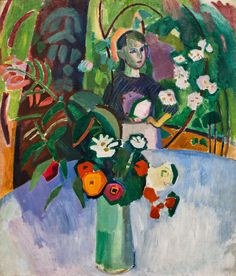 """terminusantequem: """" Raoul Dufy (French, 1877-1953), Jeanne in the flowers, 1907 """""""