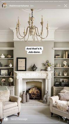 Alcove Ideas Living Room, Living Room Decor Furniture, Living Room Designs, Living Room With Fireplace, Living Room Grey, Home Living Room, Victorian Living Room, Victorian House, Lounge Design