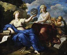 Uranie and Melpomene. 1680-81. Louis de Boullogne. French. 1654-1733. oil on canvas.