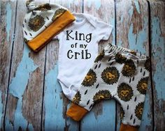 King of my Crib Newborn Set Coming Home by PineyWoodsBoutique
