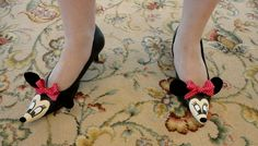 My Disney Life: My custom designed Minnie Mouse shoes for our Wedding Rehearsal.