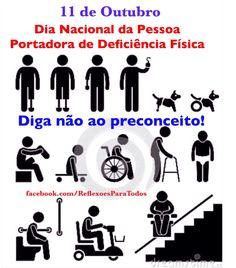 Acesse 11 de Outubro - Dia Nacional da Pessoa Portadora de Deficiência Física Com link para a Declaração das Pessoas Deficientes - ONU