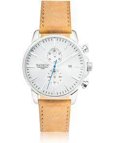 Tayroc The Iconic TXM091 bei tiqtoq online bestellen ✓ Farben: Edelstahl glänzend, Silber und Braun ✓ Armband: Leder in 22mm ✓ Kostenlose Lieferung!