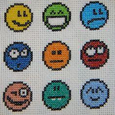 Emoticon cross stitch by behindthesofa.deviantart.com on @deviantART
