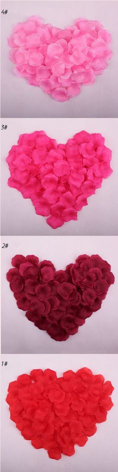 Rose Petals New 100pcs/lot Wedding Decorations Fashion Artificial Wedding Accessories Wholesale Flower Petal