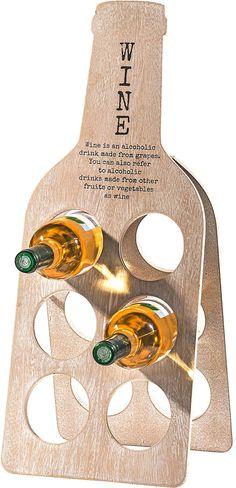 In diesem schönen Weinflaschenhalter von »Home affaire« finden 6 Flaschen ihren Platz. Das Design in Form einer Weinflasche und der dekorative Schriftzug setzen ihre Lieblingsweine toll in Szene. Der Flaschenhalter ist aus Holzfaser und lässt sich praktisch zusammenklappen. Der Flaschenhalter ist eine tolle Dekoration für Küche oder Wohnzimmer und eine schöne Geschenkidee für Weinliebhaber.  Ma...