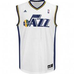 Utah Jazz Adidas NBA Replica Jersey (White)
