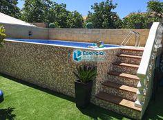 Small Backyard Pools, Small Pools, Swimming Pools Backyard, Pool Decks, Garden Pool, Above Ground Swimming Pools, Above Ground Pool, In Ground Pools, Piscina Rectangular