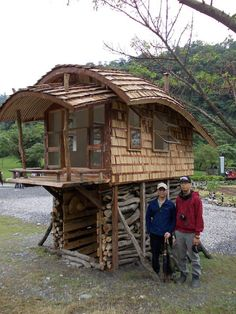 tiny house with curved roof in taiwan