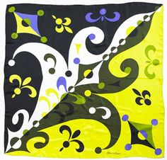 Gene Meyer printed silk scarf