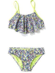 Ruffle-Top Bikini Set for Girls