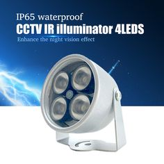 Illuminator Light 4 Big LED CCTV IR Infrared Night Vision For Surveillance Camera Security System Wholesale Free Shipping