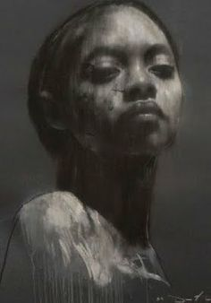 """faustinebadrichani: Mark Demsteader - drawings He is a british figurative artist. Acoording to the daily telegraph, he is """"one of Britain's best selling figurative painters"""" Ciprana large head study pastel & collage, x / Mark Demsteader Mark Demsteader, African American Art, African Art, Figure Painting, Painting & Drawing, Figure Drawing, L'art Du Portrait, Collage Portrait, Pencil Portrait"""