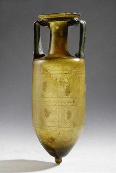 Roman Glass Amphora | 3rd Century AD | Price $20,000.00 | Roman | Glass | Vessels | eTiquities by Phoenix Ancient Art