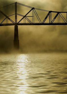 Ohio River Bridge in Fog