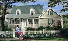 House Plan 86345 | Cape Cod Country Southern Plan with 1824 Sq. Ft., 3 Bedrooms, 3 Bathrooms, 2 Car Garage