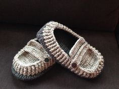 Crochet men's moccasins...order a pair for your guy!