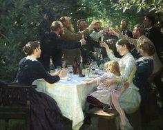 Hipp Hipp Hurra by Peder Severin Krøyer | Art Posters