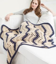 How To Crochet A Quick Lacy Ripple Afghan