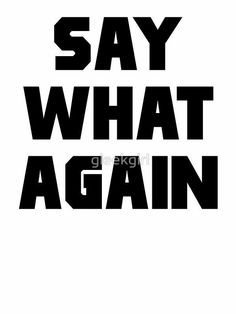 'Pulp Fiction Say What Again' Sticker by gleekgirl Death Proof, Writers Help, Crazy Mind, Top Film, The Best Films, Action Film, Funny Movies, Say What, Quentin Tarantino