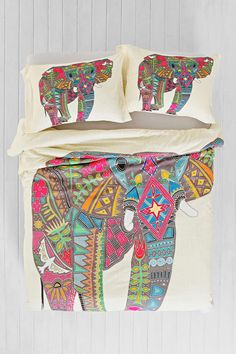 Sharon Turner for DENY Painted Elephant Duvet Cover. Urban outfiters