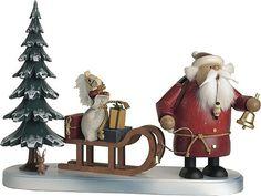 KWO Räuchermännchen Weihnachtsmann kommt