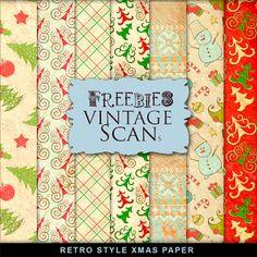 Far Far Hill: Freebies Retro Style Paper Kit, DLd