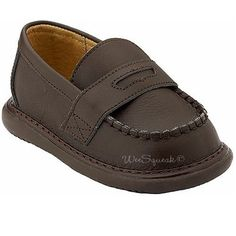 Wee Squeak Baby Toddler Little Boys Brown Leather Loafer Shoes 3-12 Wee Squeak. $37.99