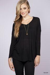 Caroline Long Sleeve V-Top