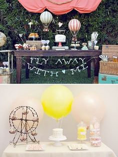 Balloon themed wedding and its called fly away with me