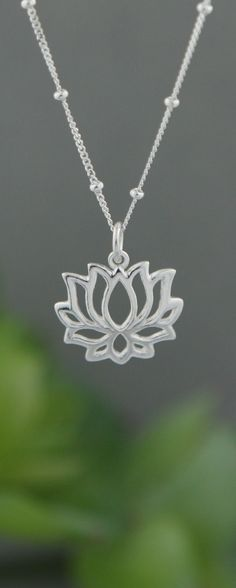 Sterling Silver Lotus Bloom Necklace