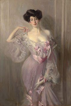 Betty Wertheimer, daughter of a great 19th-century art dealer and friend and patron of John Singer Sargent. 1877-1953. Portrait by Giovanni Boldini, 1902