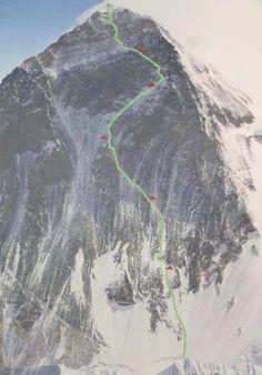 Bolotov-Urubko planned route on Everest