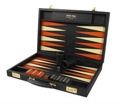Design your own award winning luxury backgammon set with Geoffrey Parker. Makers of the worlds finest personalised backgammon sets for major tournaments. Can Design, Design Your Own, Leather Working, A Table, Contemporary Design, Colour Combinations, Games, Luxury, Metal