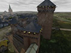 3D reconstruction of the castle of the Counts of Jülich in Erkelenz in the 15th century.