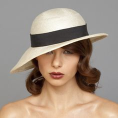 One of my favorite milliners. Beautiful, hand-made straw hat