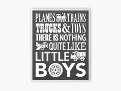 Planes trains trucks and toys Printable 8x10 Wall Art by Especia