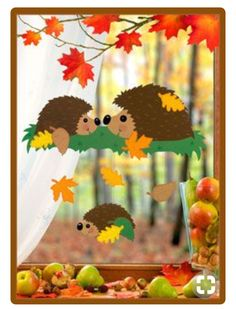 Risultati immagini per herbst paper craft Autumn Crafts, Autumn Art, Christmas Crafts For Kids, Simple Christmas, Decoration Creche, Class Decoration, School Decorations, Kids Crafts, Diy And Crafts