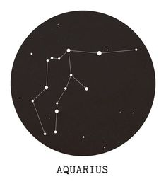 Aquarius Star Constellation Art Print by Clarissa Di Nicola - X-Small Aquarius Star Constellation, Aquarius Art, Aquarius Tattoo, Constellation Tattoos, Constellation Drawing, Sternkonstellation Tattoo, Aquarius Aesthetic, Zodiac Constellations, Star Tattoos
