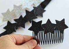DIY Sparkly star hair combs & headbands