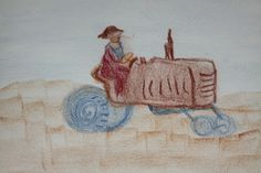 draw Community Supported Agriculture, Crayon Drawings, Form Drawing, Old Testament, Textiles, House Building, Grade 3, Contours, Crayons
