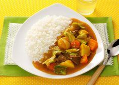 春野菜たっぷりのカレーライス (レシピNo.2176)|ネスレ バランスレシピ  http://p.nestle.jp/pint_recipe/