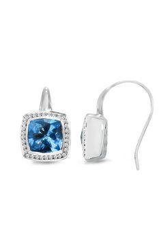DESIGNER: EFFY SEE DETAILS HERE:Effy Jewelry Balissima Blue Topaz Earrings, 7.91 TCW