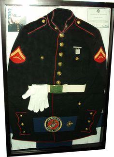 Marine Uniform On Display