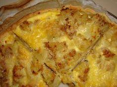 """750g vous propose la recette """"Quiche thon, pommes de terre, gruyère, oignon"""" notée 4.1/5 par 127 votants."""