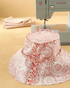 make your own floppy hat. May be my first project with my new sewing machine.