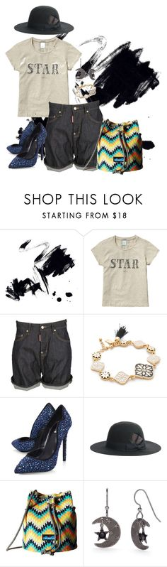 """""""Bright!"""" by snarlybeasty ❤ liked on Polyvore featuring Marmont Hill, Scotch & Soda, Dsquared2, Kate Spade, Carvela, Justine Hats, Kavu and Silver Forest"""