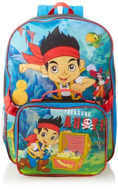 Boys Kids Backpack Childrens School Bag Personalised Pirate Ahoy Pirates