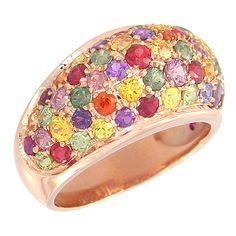 Multicolor Rainbow Sapphire Multi Color Dome by RainbowSapphire, $1190.00