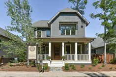 Such an adorable craftsman style home! The Redbud Cottage in the Town of Mt Laurel.